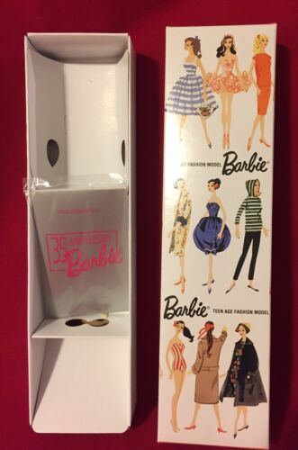 BARBIE 35th Anniversary REPRO BOX Only w Insert for Blonde /& Wrapped Booklet