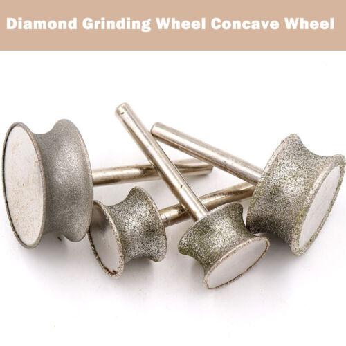 Diamond Grinding Concave Wheel 20mm-50mm Shank 6mm Jade carving Tools Circular