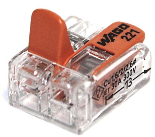 Wago 221 morsetti Set 2x 412 2x 612 413 615 Cavo Filo Connettore 415 613