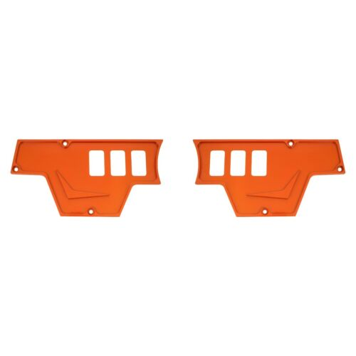 Polaris RZR Dash Switch Plate Fits All XP 1K XP 1000 Orange Aluminum