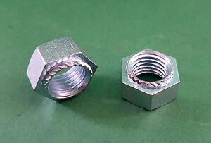 20x Sechskantmuttern M10 silber aus galvanisch verzinktem Stahl nach DIN 934