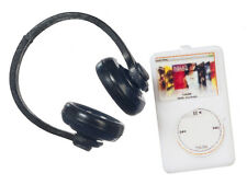 Ipod & Headphones, Dolls House Miniatures, MP3 Miniature, 1.12 Scale