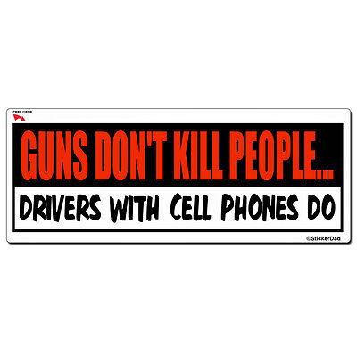 "GUNS DONT KILL PEOPLE Full Color Printed Vinyl Decal Bumper Sticker 9/"" x 3/"""