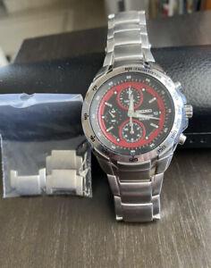 Seiko F1 Men's Daytona Racer  Chronograph Watch Very Hard To Find Gorgeous