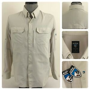 NWT-Kuhl-Airspeed-Mens-S-Vented-Wicking-UPF30-Roll-Tab-Button-Down-Logo-Shirt