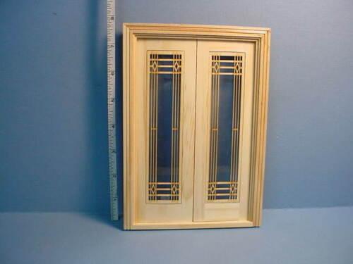 Miniature Decorative French Door Mullions Pr #E-F Laser Creations 1//12