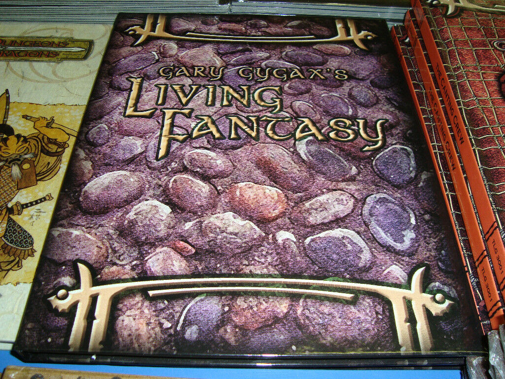 GARY GYGAX LIVING FANTASY New Unused Dungeons and Dragons GAME 3.5 Book