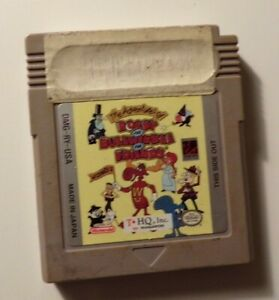 Nintendo Game Boy ROCKY AND BULLWINKLE AND FRIENDS - Tested - No Box/Manual