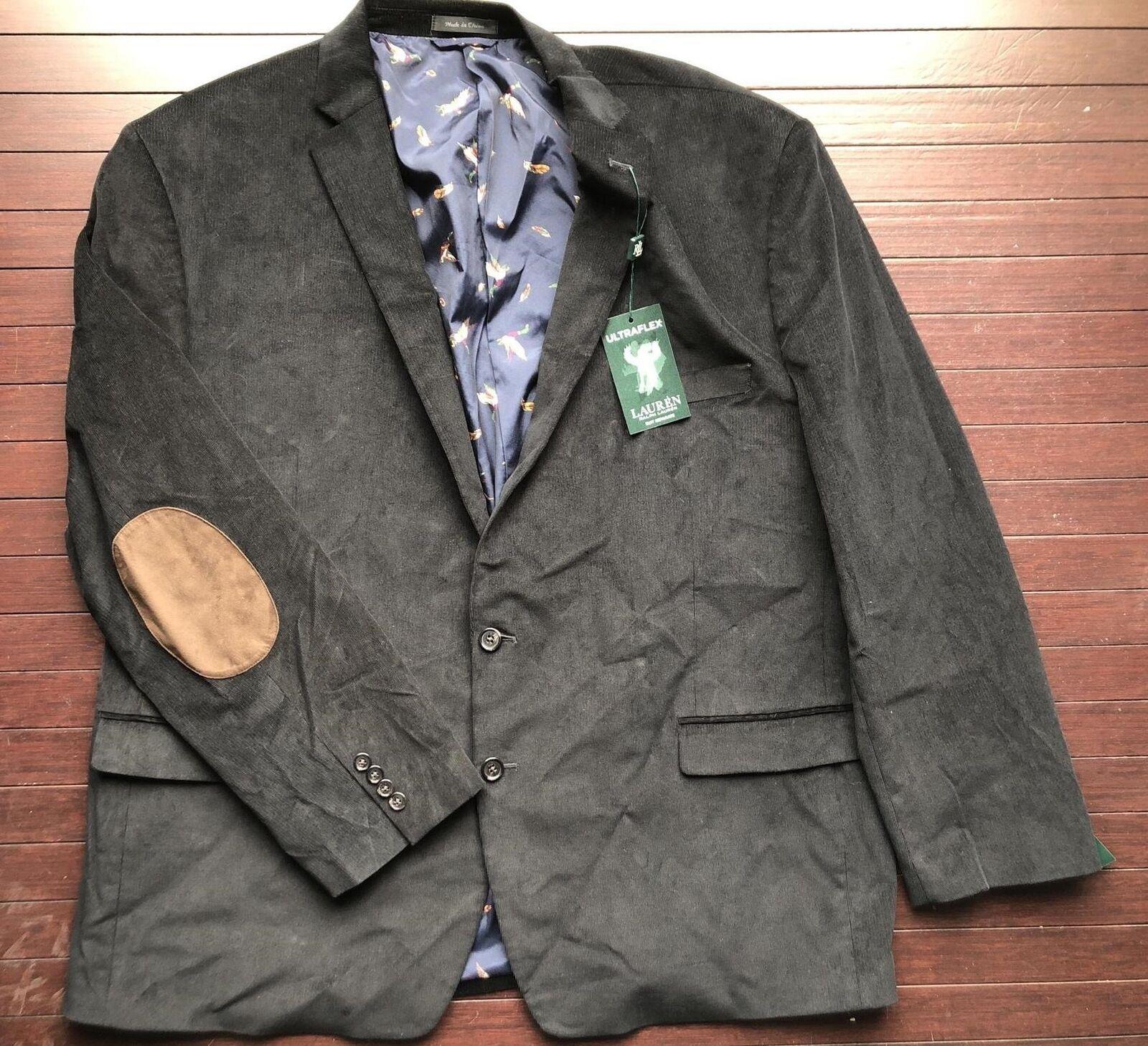 Polo Ralph Lauren Stretch Ultra Flex Sport Corduroy Coat Mens Size 56L New