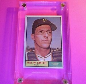 1961-Topps-242-Hal-W-Smith-Pittsburgh-Pirates-SP-NrMT-NM-High-Grade