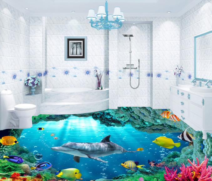 3D Farbeful Coral Sea 78 Floor WallPaper Murals Wall Print Decal AJ WALLPAPER US