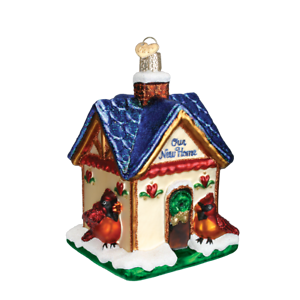 Old World Christmas OUR NEW HOME (20052)N Glass Ornament w/ OWC Box