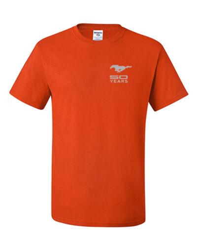 Ford Mustang Mach 1 T-Shirt Mustang 50 Years Anniversary Licensed Logo Tee Shirt