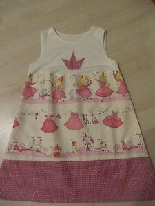 Kleid-Tunika-110-116-Prinzessin-handmade-Baumwolle-rosa-pink-dawanda