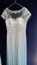Bnwt Ivory Ebony Rose Lace Full Length Wedding Dress Size 16