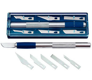 WEDO-Skalpell-78722-L-150-mm-inkl-6-versch-Klingenformen-Cutter-NEU-amp-OVP