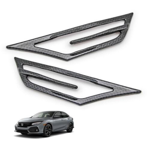 Fits Honda Civic 2016 2017 2018 Indicator Signal Lamp Light Cover Carbon Black