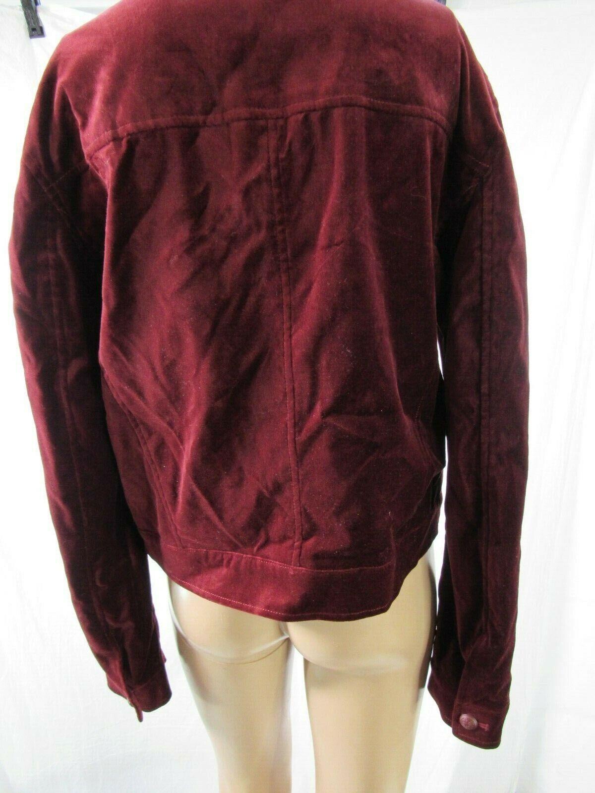 BB Dakota Red Velvet Jacket Blazer Size Large - image 5