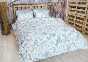 Bettwäsche 200x200 Cm Bettgarnitur Bettbezug Baumwolle Kissen 5 Tlg