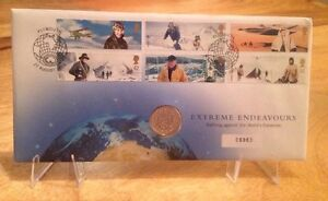2003 Royal Mint Royal Arms 1 BU Uncirculated Extreme Endeavours Coin Stamp Pack - Runcorn, Cheshire, United Kingdom - 2003 Royal Mint Royal Arms 1 BU Uncirculated Extreme Endeavours Coin Stamp Pack - Runcorn, Cheshire, United Kingdom