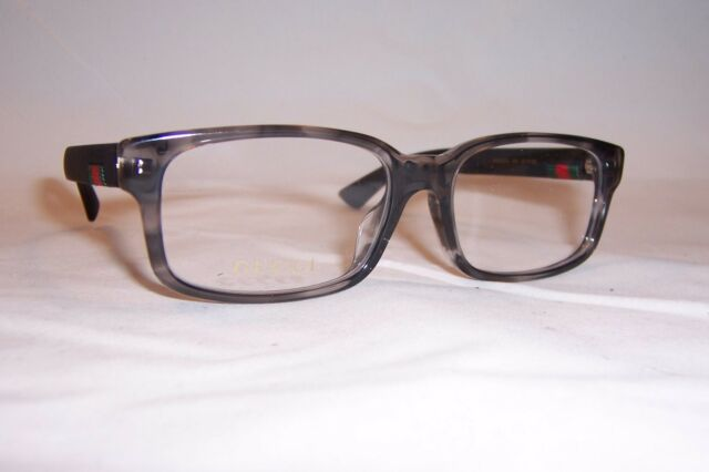 fefc98f0dde7 NEW GUCCI EYEGLASSES GG 0012OA 003 GRAY BLACK 55mm RX AUTHENTIC 0012