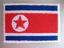 North Korean Flag Small Iron On / Sew On Cloth Patch Badge Korea 조선민조조의인민공화국 플래그