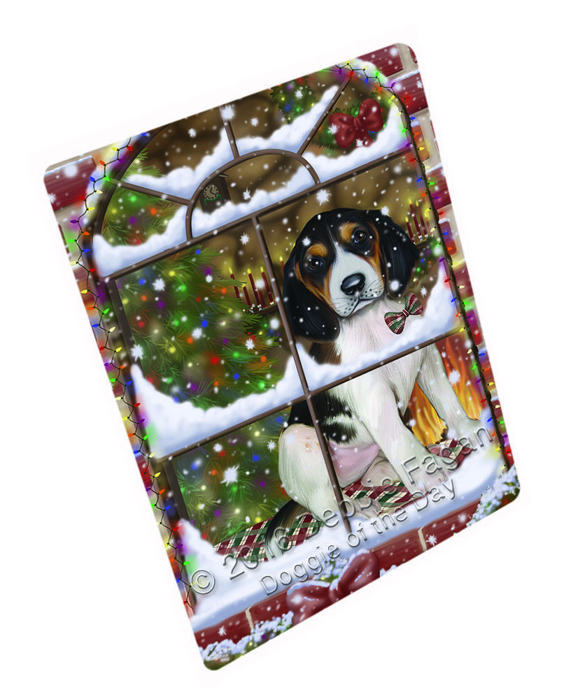 Come Home Christmas Treeing Walker Coonhound Dog Woven Throw Sherpa Blanket T144
