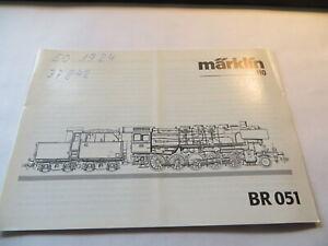 Manual For Märklin 37841 H0 Steam Br 051 With Digital- And Wartungsteil