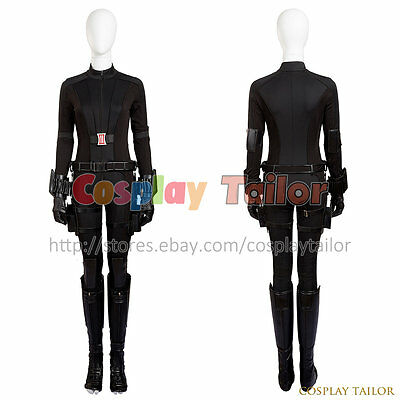 Captain America3:Civil War Black Widow Women Jumpsuit Halloween Cosplay Costume