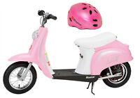 Razor Pocket Mod Bella 24v Electric Girl Scooter & Youth Helmet (pink) on Sale