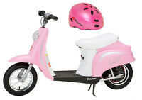 Razor Pocket Mod Bella 24v Electric Girl Scooter & Youth Helmet (pink) on Sale
