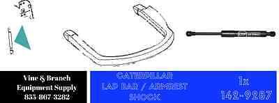 Lap Bar Shock for Caterpillar Skid Steers 247B3 287B 287 Restraint Damper Spring