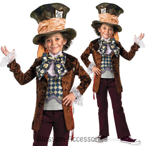 CK185 Mad Hatter Alice In Wonderland Movie Fancy Child Boys Book Week Costume