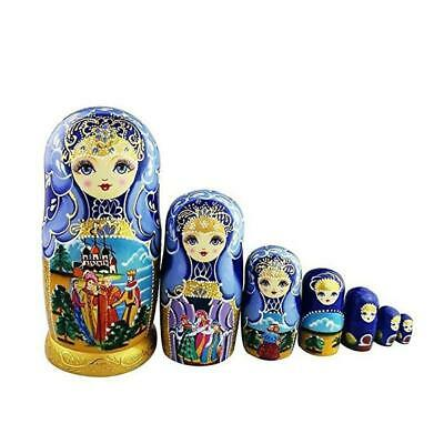 8/'/' 10PCS Wooden Russian Nesting Doll Matryoshka Babushka Hand Painted Toy Gift