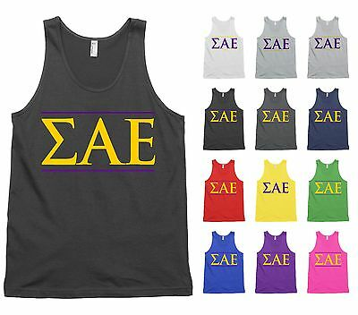 Sigma Alpha Mu Bella Canvas Tank Top Shirt Fraternity USA Flag Letters!
