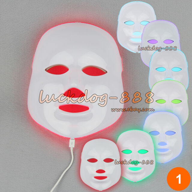 Skin Rejuvenation / Reduce Wrinkle 7 Colors LED Photon Facial Mask Light Therapy