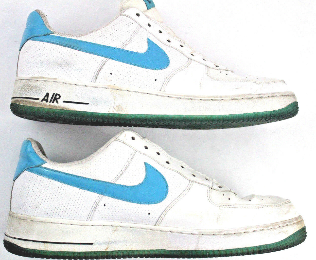 Nike Air Force 1 Low White Blue Shoes 315122-110 Men's Price reduction