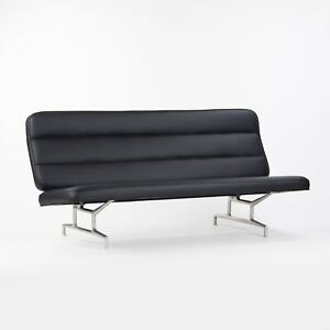 Rare 1964 Eames for Herman Miller 3473 Sofa with Brand New Black Upholstery