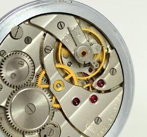 Vintage MOLNIJA MOLNIA Russian Slim Pocket Watch 1964's PERFECT 15 Jewels
