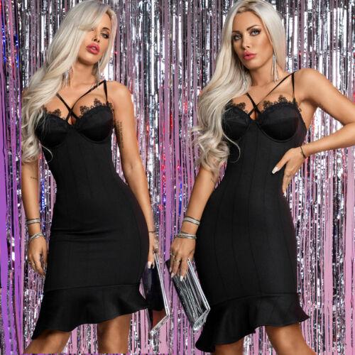By Alina Mexton Damen PUSH-UP BH Kleid Bodycon-Kleid Partykleid Spitze XS-M