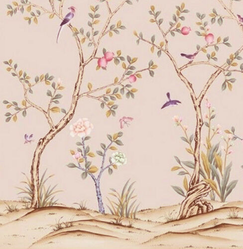 Casa De Muñecas Wallpaper Mural aves 1//12th escala Chinoserie Miniatura #27