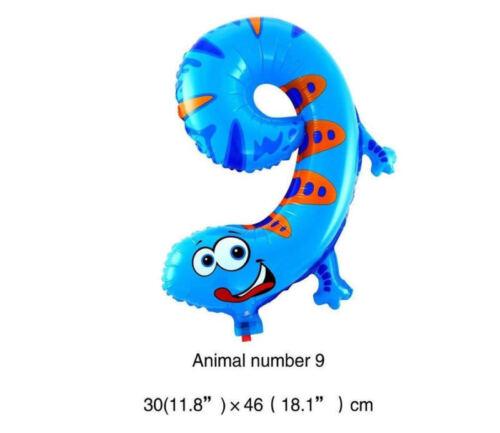 Animal Number Foil Balloons Kids Party Birthday Wedding Decor Ballon Child Gift