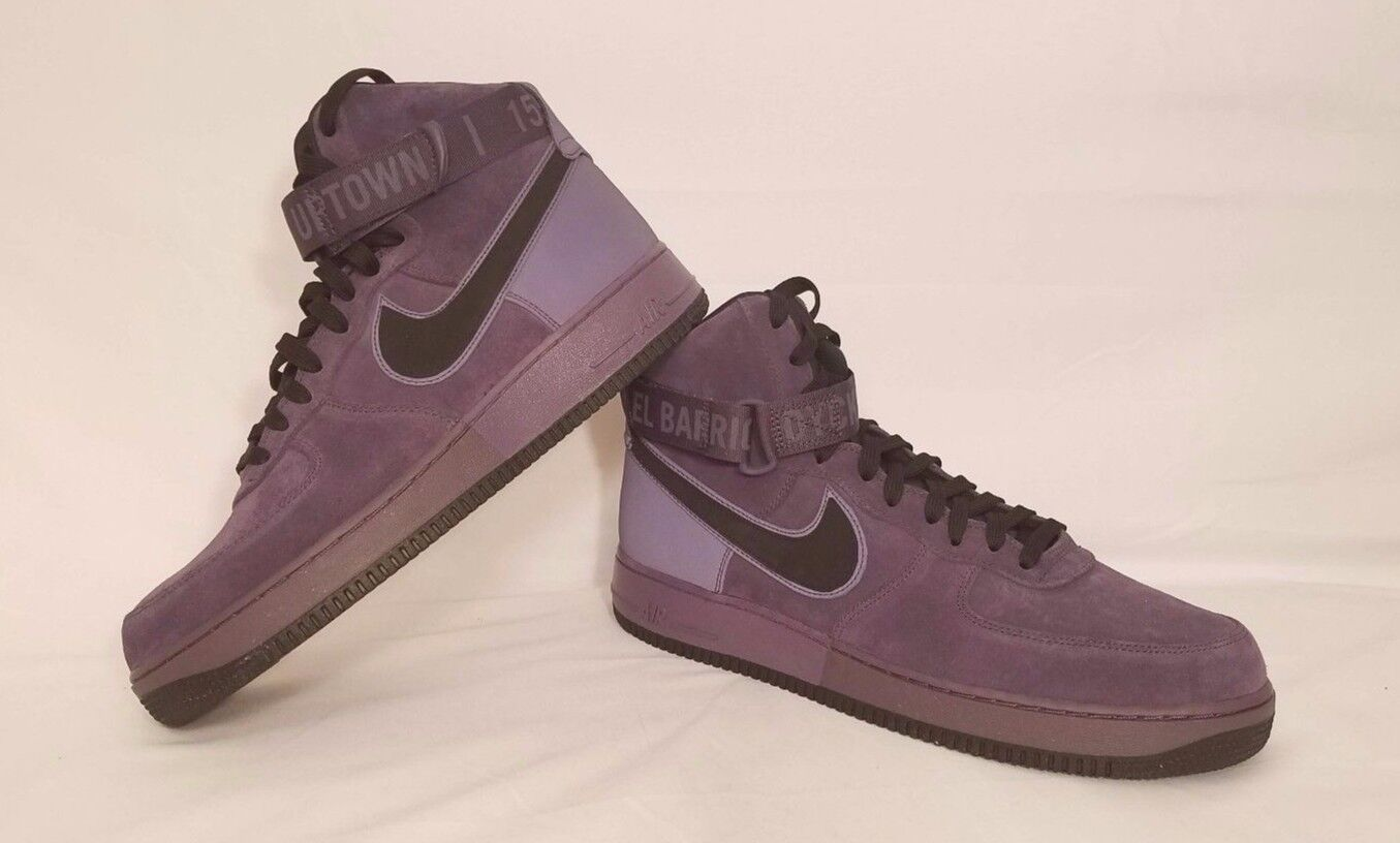 Nike Air Force 1 High '07 QS  Harlem  Purple Black Raisin Size 11.5 573967-500