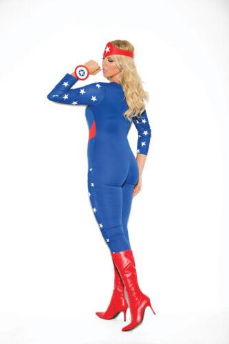 3 Pc Costume Captain Super Hero Plus /& Regular Sizes Adult Woman America Hero