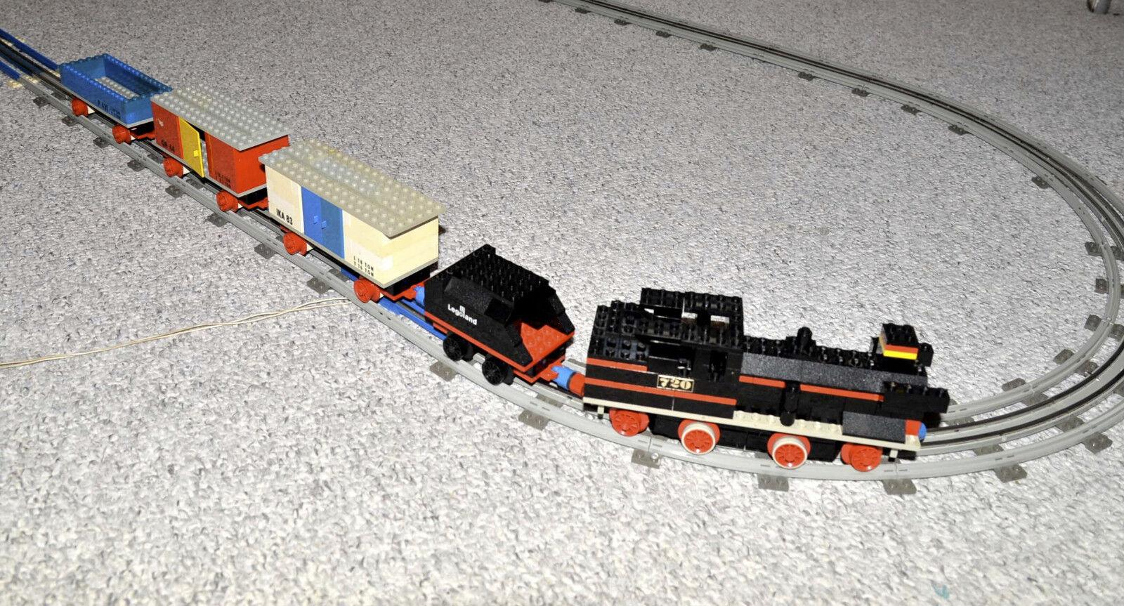 LEGO 720 Eisenbahn 12V Zug Lok und Wagen von 1969