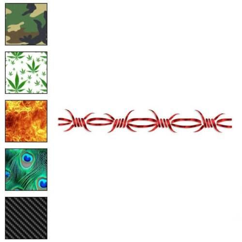 Barbed Wire Barb Tribal Decal Sticker Choose Pattern Size #2881