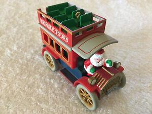 Vintage-Collectible-Hallmark-Santa-Kringle-Tours-Bus-Christmas-Ornament-1992