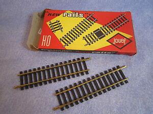 ZA416-JOUEF-2-DEMI-RAILS-DROITS-LAITON-15-TRAVERSES-REF-475-2-1-87