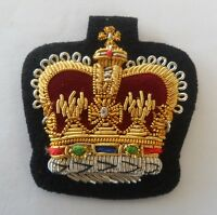 WO2 Crown, Warrant Officer, Army, Mess Dress, Black
