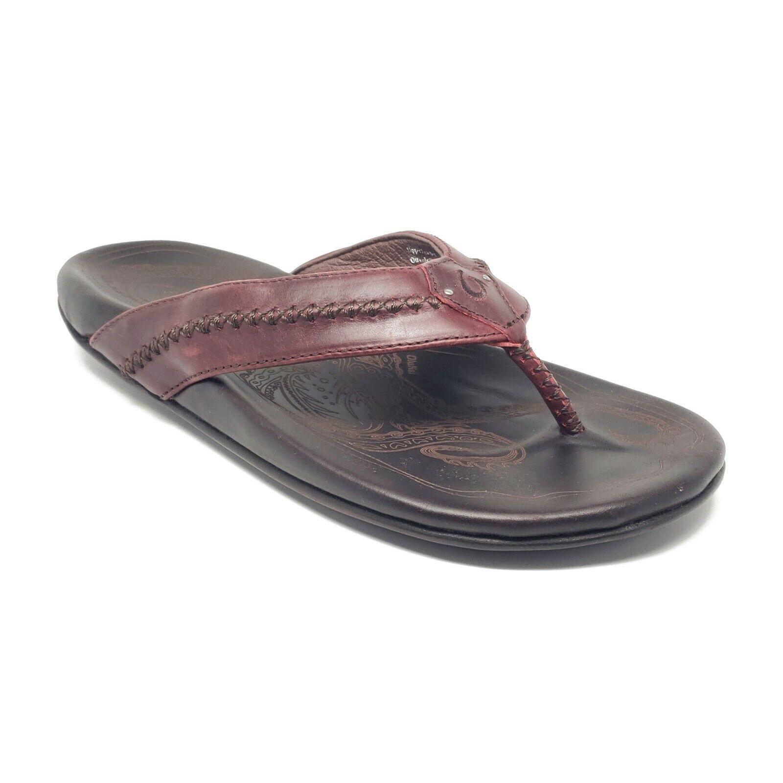 OluKai Mea Ola Leather Sandals